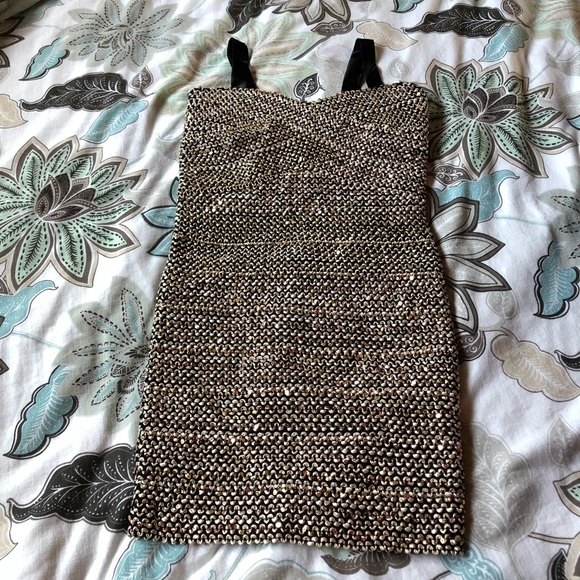Elisa B Other - Elisa B [Nordstrom] Gold Sequenced Dress Sz 14